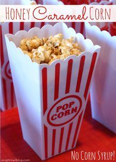 Honey Caramel Corn from anightowlblog.com >> #WorldMarket Outdoor Movie Night