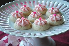 Thumbprint cookies w/cherry buttercream frosting