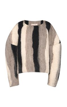 Black Stripe Felt Top by Marni - Moda Operandi