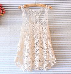 Fashion Sexy Lace Crochet Women Tank Tops Hollow Beach Cloth Sleeveless Camisole-in Tank Tops from Women's Clothing & Accessories on Aliexpress.com | Alibaba Group