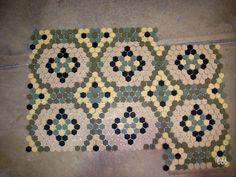 Another historic ceramic tile pattern. Bathroom floor option?