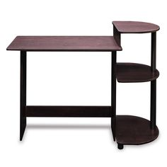 Simple Compact Computer Desk in Espresso Black Finish - Quality House