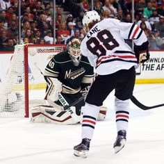Blackhawks continue elevating game in playoffs Blackhawks Players, Blackhawks Jerseys, Chicago Blackhawks, Corey Crawford, Sports Pictures, Home And Away, Espn, Nhl, Games