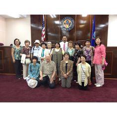 Vice speaker Cruz and senator hope cristobal with visitors from Okinawa.