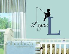 Hey, I found this really awesome Etsy listing at http://www.etsy.com/listing/127354439/fishing-wall-decal-boys-name-wall-decal