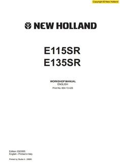 new holland skid steer loader ls160 ls170 workshop service manual new holland crawler excavator e115sr e135sr workshop service manual circuit diagramhigh