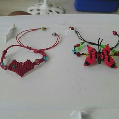 Pulseras hecho de hilo a mano Crochet Earrings, Jewelry, Handmade Bracelets, Hands, So Done, Jewlery, Jewerly, Schmuck, Jewels