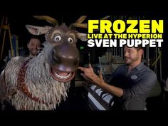 """Sven puppet interview for """"Frozen - Live at the Hyperion"""" at Disney California Adventure Frozen Live, Sven Frozen, Frozen On Broadway, Frozen Musical, Little Shop Of Horrors, Puppet Making, Star Wars Film, Stage Play, Disney California Adventure"""