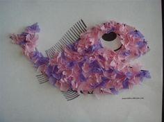 Tissue paper textured fish