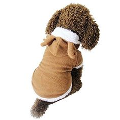 XY Fancy Puppy Dog Christmas Clothes Reindeer Costume Outwear Coat Apparel Hoodie >>> Awesome cat product. Click the image : Christmas for Cats