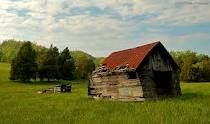 A Crumbling Old Barn and Shed in Washington County, Virginia