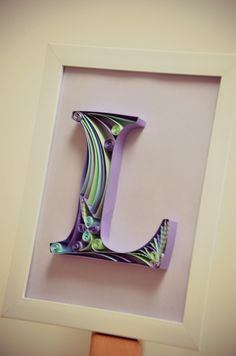 Paper Quilling Letter - Quilling Tutorial Part 2