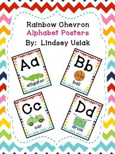 If you are looking for bright, colorful, chevron alphabet posters then you have…