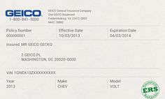 Auto Insurance Card Template | shatterlion