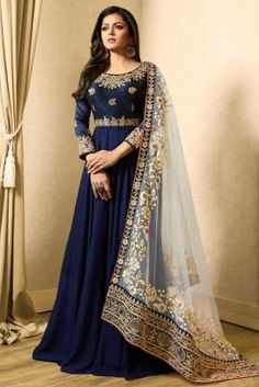 Looking to buy Anarkali online? ✓ Buy the latest designer Anarkali suits at Lashkaraa, with a variety of long Anarkali suits, party wear & Anarkali dresses! Indian Gowns, Pakistani Dresses, Indian Outfits, Eid Dresses, Fashion Mode, Abaya Fashion, Indian Fashion, Style Fashion, Fashion Trends