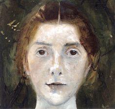 Paula Modersohn-Becker, née le 8 février 1876 à Dresde et morte le 21 novembre 1907 à Worpswede, est une artiste peintre allemande, et l'une des représentantes les plus précoces du mouvement expressionniste dans son pays. Self-Portrait, 1897