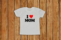 I love mom tshirt  new mommy  tshirt  for Toddler Boys by lptshirt, $16.95