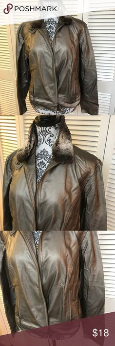 Ruby Rd jacket Size 14  60% polyurethane  40% viscose  Fully lined  Full front zip jacket with zip pockets  Removable Faux Fur collar  Super soft jacket in very gently worn condition Ruby Rd. Jackets & Coats