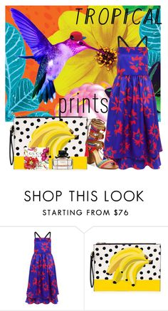 """Tropical Prints.."" by detroitgurlxx ❤ liked on Polyvore featuring interior, interiors, interior design, home, home decor, interior decorating, Edit, Schutz and tropicalprints"