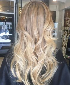 White honey balayage by Melissa Van Peeren