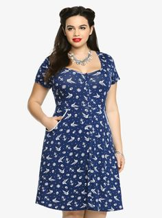 Plus size 1940 s tea dress