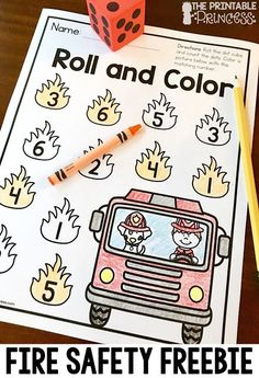 Math and Literacy Fire Safety Freebies! Print and go.