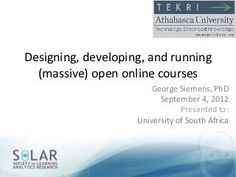 Designing and running a MOOC (in 9 easy steps) | By George Siemens