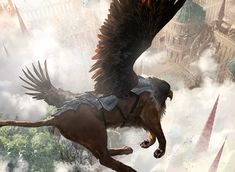 Sunspire Griffin – Magic: The Gathering concept art by Johannes Voß