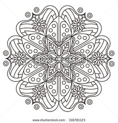exquisite mandala pattern design in black and white