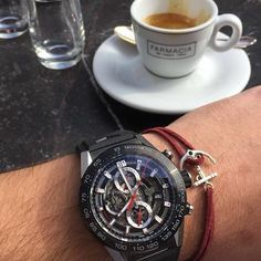 Afternoon coffee in Italy ☕️😜🇮🇹 #braceleti #bracelet #burgundy #autumn #italy #bella #italia #lovely #coffee #afternoon #watch #potd #botd #instadaily #instafashion #fashion #followus #blogger #musthave #beunique #leather #instapost
