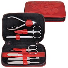 Maniküretui NATURE FIORELLA Manikür Nagel Pflege Set Leder rot Sacher  http://cgi.ebay.de/ws/eBayISAPI.dll?ViewItem&item=161898592957&ssPageName=STRK:MESE:IT