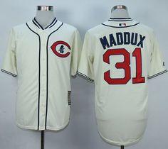 bd984eb47 Cubs #31 Greg Maddux Cream 1929 Turn Back The Clock Stitched MLB Jersey  Greg Maddux