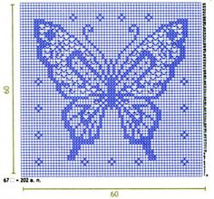 Filet crochet butterfly pattern