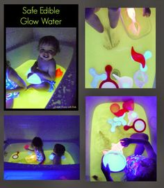DIY Safe and Edible Glow Water for Baths and Play