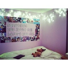 Stencil some inspiring words above your teen's bed or desk.  Source: Instagram user dreambedrooms2014