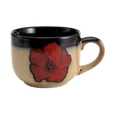 Amazon.com | Pfaltzgraff Everyday Painted Poppies Jumbo Soup Mug, 28-Ounce: Cereal Bowls