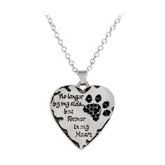 Paw Prints No Longer By My Side,But Forever in My Heart Necklace for Dog Lovers