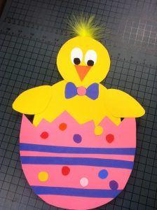 Easter-Chick-Craft-for-kids – preschool crafts and worksheets Easter Art, Easter Crafts For Kids, Easter Ideas, Preschool Arts And Crafts, Classroom Crafts, Handprint Art, Egg Crafts, Origami Art, Spring Crafts