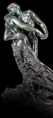 Lecture 6 - Seeing the Big Picture - Composition:  Claudel, Camille. The Waltz. c. 1895. Bronze, 17 × 9 × 13.5 (43.2 × 23 × 34.3 cm). Musée Rodin, Paris.