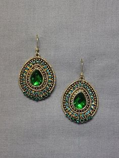 Royal Peacock Earrings from Le Mode Accessories - only $16!