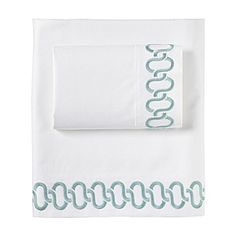 """Search Results for """"serena lily savoy links embroidered sheet set aqua – domino Home Textile, Textile Design, Aqua Bedrooms, Luxury Sheets, Cool Beds, Linen Pillows, Bedding Collections, Sheet Sets, Aqua Blue"""