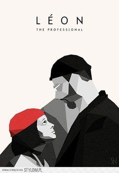 Leon: The Professional (mit Jean Reno und Natalie Portman) geometrischer Film …. Leon: The Professional (with Jean Reno Minimal Movie Posters, Cinema Posters, Film Posters, Event Posters, Graphic Posters, Art Posters, Film Poster Design, Movie Poster Art, Poster Series