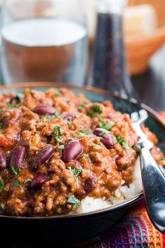 Classic Chilli Con Carne Best Chili Recipe, Chilli Recipes, Crockpot Recipes, Cooking Recipes, Easy Recipes, Diner Recipes, Mexican Food Recipes, Comida Tex Mex, Con Carne Recipe