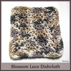 Blossom Lace Dishcloth ~ FREE Crochet Pattern