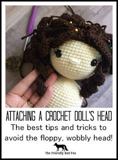The question I get the most from people is how do I keep the head from wobbling when I sew on the head? The dolls heads do get a little...