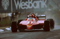 Gilles Villeneuve(CDN) Ferrari in practiceSouth African GP, Kyalami, 23 January Ferrari Racing, Ferrari F1, F1 Racing, Classic Motors, Classic Cars, Belgian Grand Prix, Gilles Villeneuve, Car And Driver, Vintage Racing