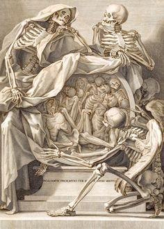 Anatomy / medical print  bag of bones  goth steam punk skull anthropology. $7.99, via Etsy.