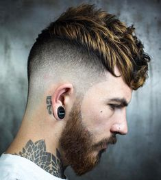 Find many cool fade haircuts for men at our website! #hair #haircut #fade #hairstyle #beauty Best Fade Haircuts, Popular Haircuts, Haircuts For Men, Bald Taper Fade, Low Bald Fade, Man Bun Haircut, Short Hair Cuts, Short Hair Styles, Classic Haircut