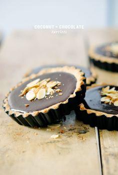 Coconut Chocolate Tartlets – lark & linen