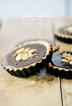 Coconut Chocolate Tartlets – lark & linen